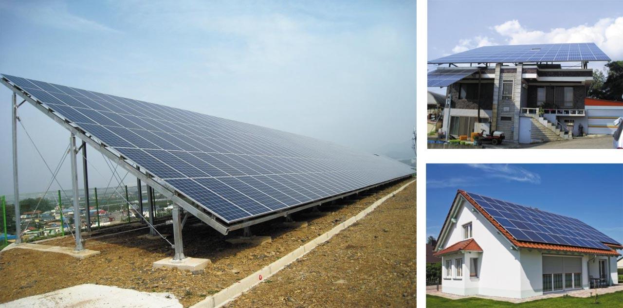 농민이 주도적으로 태양광발전시설을 운영하면 소득 증대에 도움을 줄 수 있다고 한다. 경북지역에 설치된 다양한 태양광발전시설.