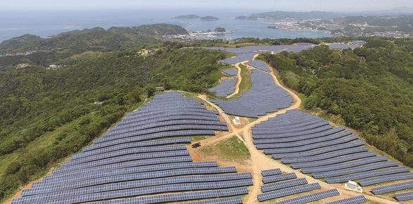 LG CNS가 구축한 일본 시마네현 태양광 발전소./사진=LG CNS