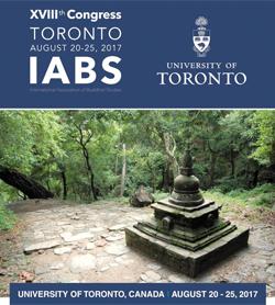 올해 캐나다 토론토대에서 열린 세계불교학회 제18차 대회 포스터.