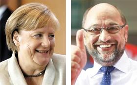 메르켈 총리, 슐츠 SPD 총재