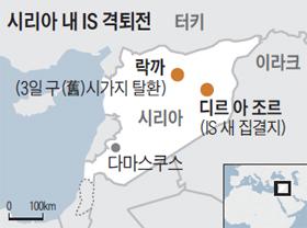 시리아 내 IS 격퇴전 지도