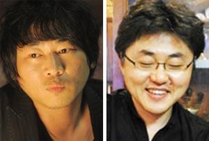 시인 강정(왼쪽), 소설가 서준환