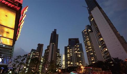 중국 상하이 도심의 고층 아파트 전경 / 블룸버그 제공