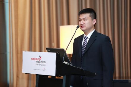 버논 왕 시틱 프루덴셜 포트폴리오 매니저가 13일 서울 여의도에서 중국 A주 시장에 대해 소개하고 있다. / 이스트스프링자산운용 제공