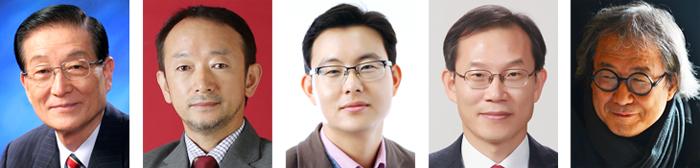 김경동, 염한웅, 윤태영, 이종호, 승효상