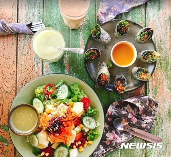 태국 치앙마이의 '채식 요리'.