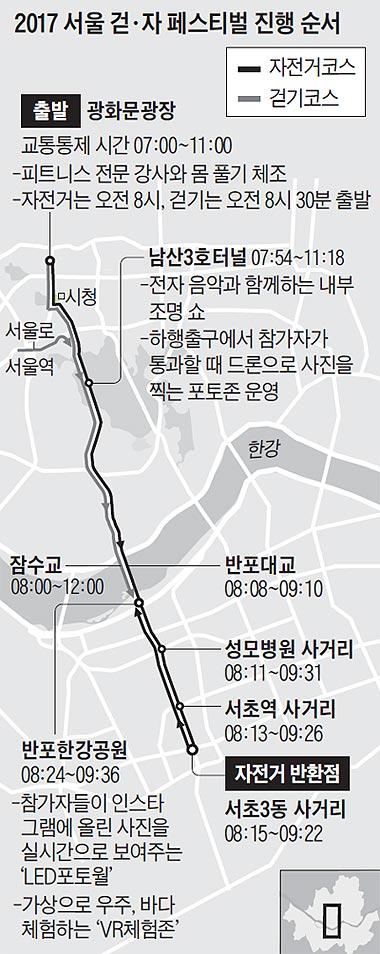 2017 서울 걷·자 페스티벌 진행 순서