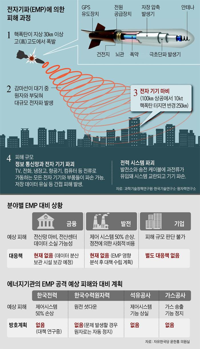 전자기파에 의한 피해 과정 설명도