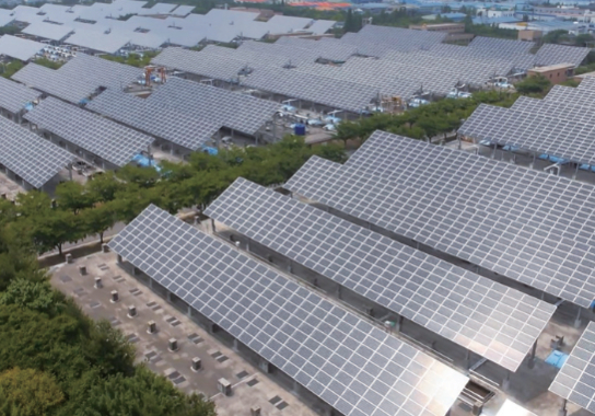 대구 서부하수처리장에 설치된 태양광 발전 설비./대구시