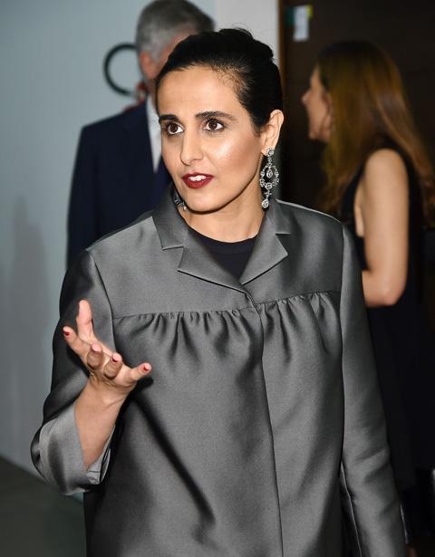 미술계의 큰손으로 불리는 카타르의 알 마야사 알사니 공주가 지난 2015년 이탈리아 토리노의 한 시상식에 참석한 모습