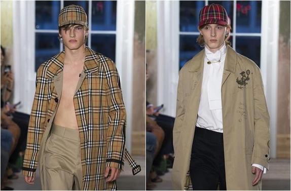 최근 길거리 패션 열풍으로 럭셔리 브랜드들이 야구모자를 주요 액세서리로 내놓고 있다. 사진은 버버리의 2017년 가을 남성 패션쇼 모습/사진=버버리
