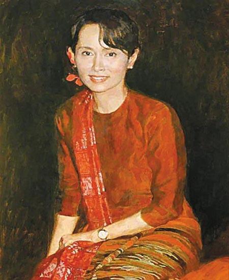 영국 옥스퍼드대 건물 정문에 18년간 걸려 있다 지난 9월 29일 창고로 치워진 수지 초상화.