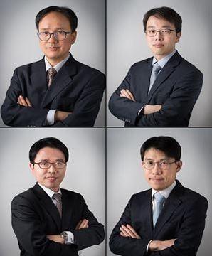 (윗줄 왼쪽부터 시계방향으로) 홍동오, 임철근, 이창우, 여현동 변호사/법무법인 화우 홈페이지