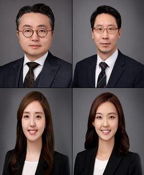 (윗줄 왼쪽부터 시계방향으로) 조성재, 오현성, 손리나, 박은민 변호사/법무법인 광평 홈페이지