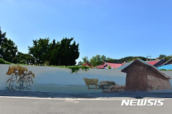 전남 해남군 우수영 강강술래길.