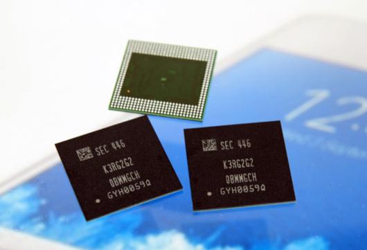 삼성전자가 생산하고 있는 20나노 8기가비트(Gb) 모바일 D램./ 삼성전자 제공