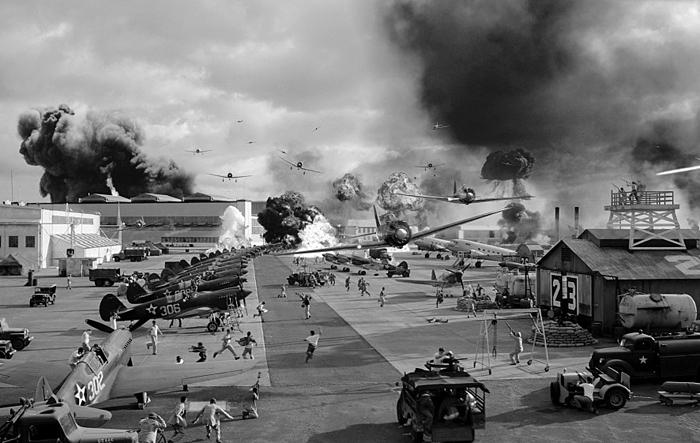 일본은 진주만을 45분간 공습했다. 사진은 영화 '진주만'의 한 장면.