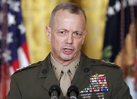 미 브루킹스연구소 소장에 선임된 존 앨런 전 해병대 대장.