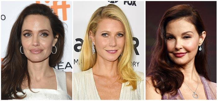 와인스타인에게 성추행당했다고 폭로한 할리우드 유명 여배우들. 왼쪽부터 앤젤리나 졸리