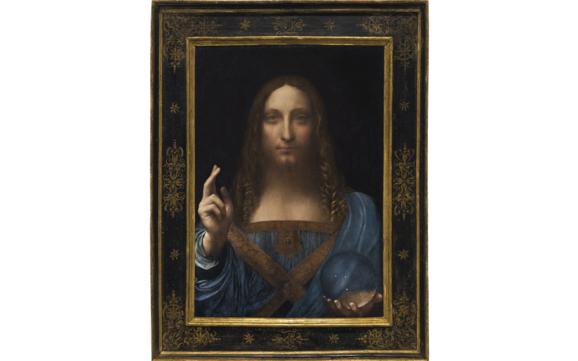 다빈치의 예수 초상화 '살바토르 문디' /사진=월스트리트저널 홈페이지