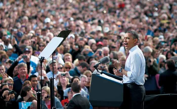 """버락 오바마 전 미국 대통령은 2008년 """"그래, 우리는 할 수 있어(yes, we can)""""라는 연설로 자신을 각인시켰다."""