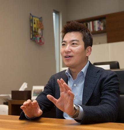 손지호 네오밸류 대표가 도시재생 사업의 개발 방향을 설명하고 있다. /고운호 기자