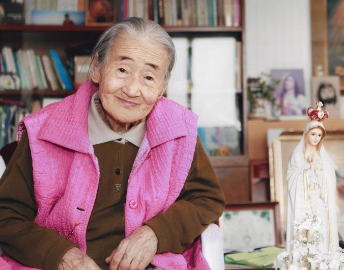 만년의 이춘선 할머니.
