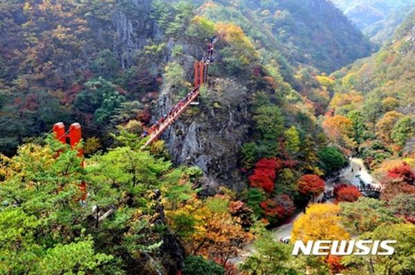 전북 순창군 강천산.