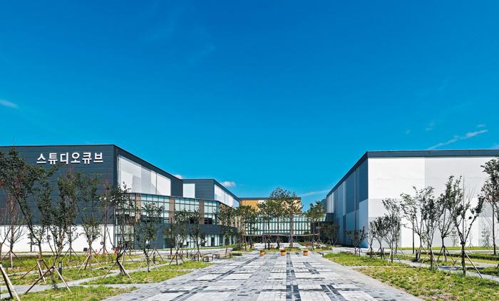 지난 9월 25일 대전엑스포과학공원 안에 조성돼 문을 연 국내 최대 규모 방송영상 제작 전문시설 스튜디오 큐브의 전경.