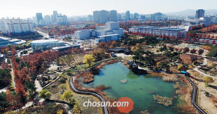 대전 시민이 뽑은 최고의 명소인 도심 속 한밭수목원의 가을 풍경