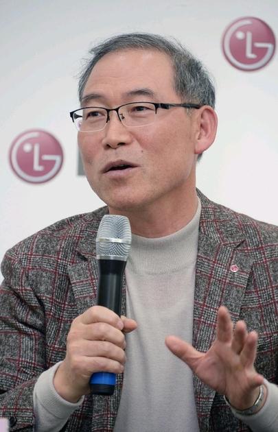 송대현 LG전자 H&A사업본부장 사장이 6일 LG전자 창원R&D센터에서 기자간담회를 갖고 있다. / LG전자 제공