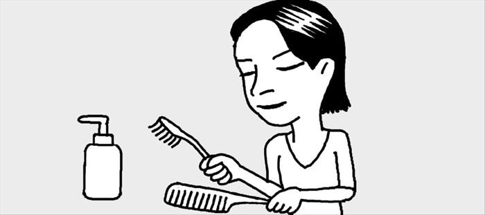 [리빙포인트] 꼬리빗에 낀 먼지 닦을 땐
