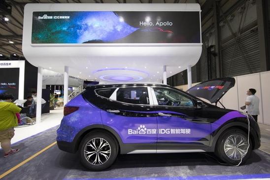 지난 6월 중국 상하이에서 열린 'CES 아시아 2017'에서 바이두는 통신형 내비게이션 '바이두 맵오토'와 대화형 음성인식서비스 '두어 OS 오토'를 탑재한 현대차 싼타페를 전시했다./현대차 제공