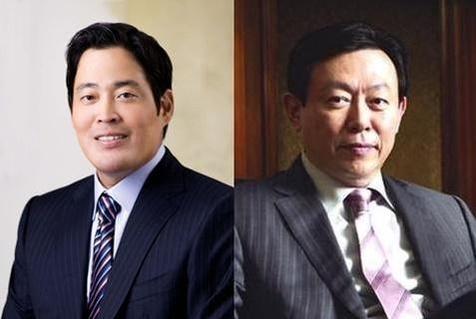 정용진 신세계 부회장(왼쪽)과 신동빈 롯데그룹 회장(오른쪽). /조선DB