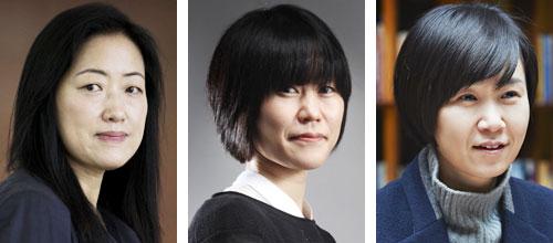 (왼쪽부터)강영숙, 김애란, 조남주.