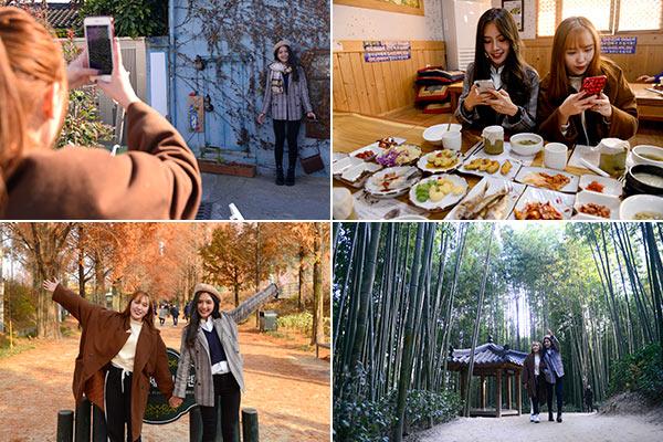 왕홍은 일정의 마지막 날 광주 양림동 근대역사문화 마을, 담양 메타세콰이어길, 죽녹원을 방문했다.