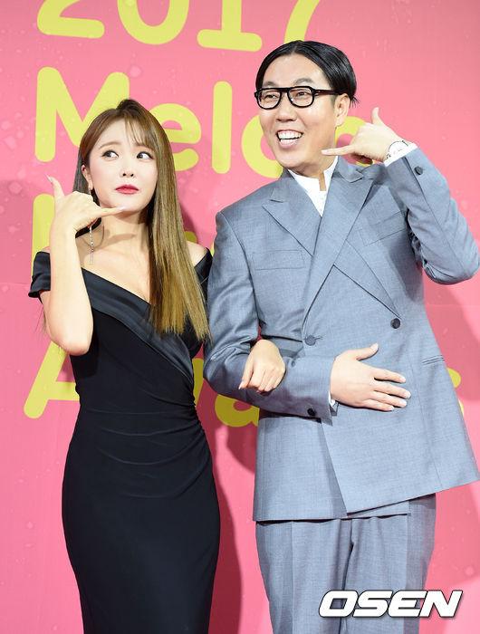 [사진]홍진영-김영철, '따르릉~'
