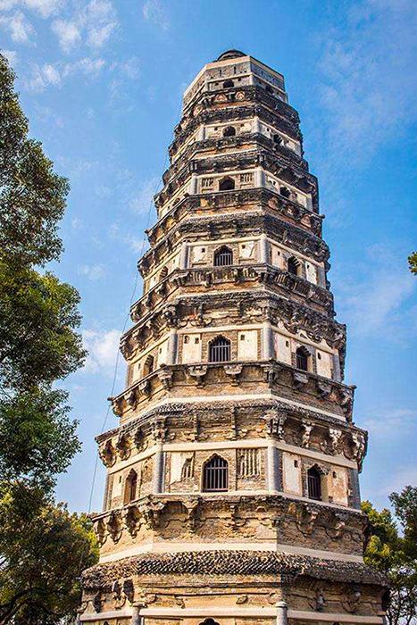 중국판 피사의 사탑으로 불리는 호구탑.