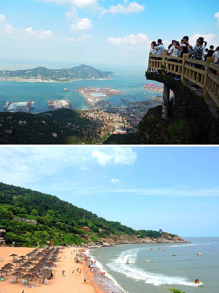 롄윈강은 중국인들이 선호하는 여름휴가지 중 하나다.