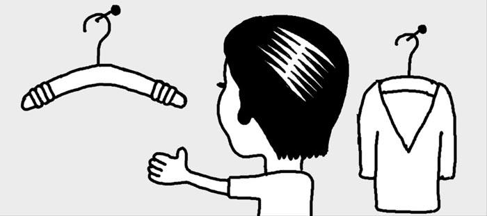 [리빙포인트] 옷걸이 옷 안흘러내리게 하려면