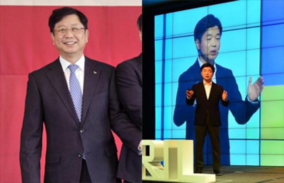 SK C&C는 안정옥 사업대표 사장(왼쪽)과 이기열 디지털 총괄 부사장(오른쪽) 등 총 8명의 임원인사를 단행했다고 7일 밝혔다. /SK C&C 제공