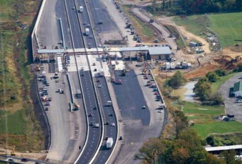 사진=펜실베니아 유료고속도로(PTC) 공사현장