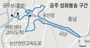 공주 성화봉송 구간