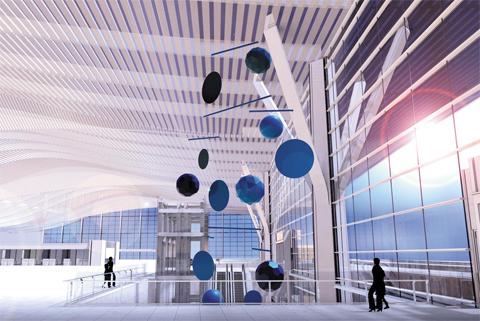 인천국제공항 2터미널에 전시될 프랑스 대표작가 자비에 베이앙의 작품 예상도.