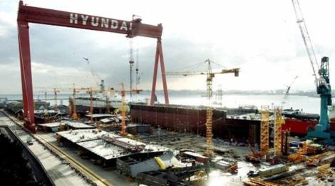 울산 동구에 있는 현대중공업 해양공장/조선DB