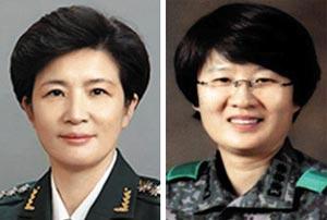 강선영 준장(왼쪽), 허수연 준장.