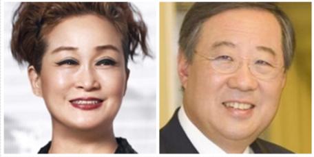 이미경 CJ그룹 부회장(왼쪽), 류진 풍산 회장./조선DB