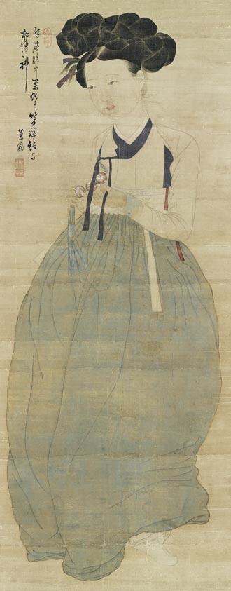보물로 지정 예고된 신윤복의'미인도'.