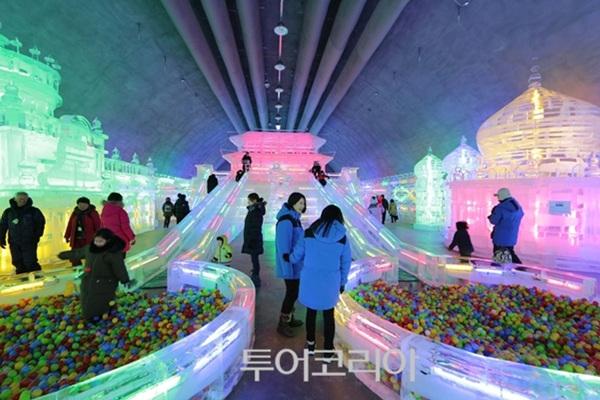 실내 얼음조각 광장