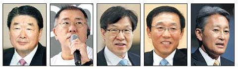 구본준, 정의선, 권오준, 김기남, 히라이 가즈오.